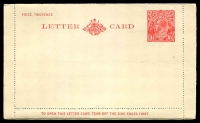 Lot 403:1927-30 1½d Red KGV Sideface New Design 'TO OPEN THIS LETTERCARD' BW #LC62 printed internal message for WS Friend and Co.