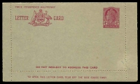 Lot 995:1957-59 4d Claret QEII BW #LC81B admonition within in claret, unused.