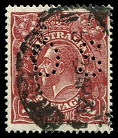 Lot 550:2d Red-Brown Die I - BW #98ba perf 'OS'.