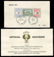 Lot 4:Australia - Exhibition: 1972 Anpex numbered 