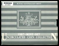 Lot 25 [2 of 2]:Australia: 1987 Uncirculated Royal Australian Mint set.
