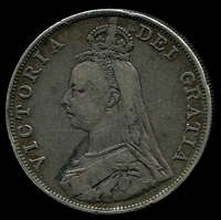 Lot 181 [2 of 2]:Great Britain: 1887 QV Jubilee Head Double Florin.
