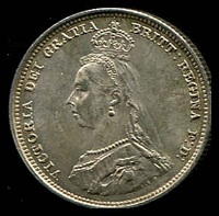 Lot 178 [2 of 2]:Great Britain: 1887 QV Jubilee Head 1/- unc.