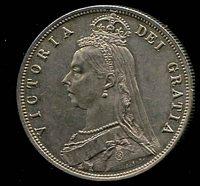 Lot 17 [2 of 2]:Great Britain: 1887 QV Jubilee Head Half Crown unc.