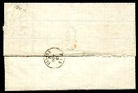 Lot 3840 [2 of 2]:1867 Entire from Milan to Cesena with 20c tied by fine 181 numeral cancel and backstamped Cesena 5OTT67.