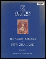 Lot 40:New Zealand: 'The Chalon Collection of New Zealand' Christies Robson Lowe catalogue 22nd February 1989.