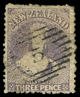 Lot 4407:1864-7 Wmk Large Star Perf 12½ SG #117 3d lilac.