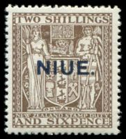 Lot 4484:1941-67 Postal Fiscals Wiggins Teape Paper Wmk NZ/Star SG #79 2/6d deep brown.