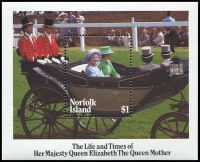 Lot 4123 [1 of 2]:1985 Queen Mother SG #364-8 set & M/Sheet. (5)