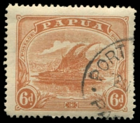 Lot 4300:1911-15 Monocolour SG #89 6d orange-brown.