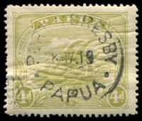 Lot 4480:1911-15 Monocolour SG #88 4d pale olive-green.