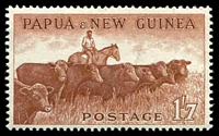 Lot 4070:1958 Pictorials SG #22 1/7d Cattle.