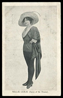 Lot 301:Australia - Actors and Actresses: Black & white PPC Nellie Leslie, Puss in Boots series.