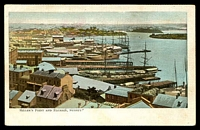 Lot 337:Australia - New South Wales: Multicoloured PPC 'Miller's Point and Balmain Sydney' with view of Sailing ships at dock.