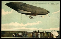 Lot 458:France: Multicoloured PPC 'Nos Dirigeables Le Liberte' early Postcard of a French Airship.