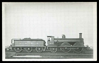 Lot 95:Trains: Locomotive LBSC 187 and tender on siding, real photo.