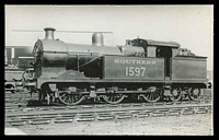 Lot 119:Trains: Locomotive Southern 1597 on siding, real photo.