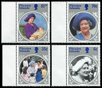 Lot 4074 [2 of 2]:1985 Queen Mother SG #268-72 set & M/S (5)