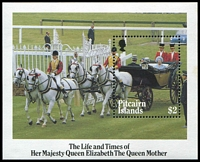 Lot 4074 [1 of 2]:1985 Queen Mother SG #268-72 set & M/S (5)
