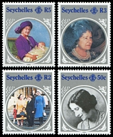 Lot 4146 [2 of 2]:1985 Queen Mother SG #614-8 set & M/Sheet. (5)