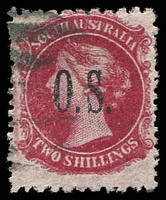 Lot 9031:1891-1903 QV Perf 10 X 11½-12½: SG #O35 2/- rose-carmine.