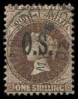 Lot 1712:1891-1903 QV Perf 11½-12½: SG #O31 1/- Vandyke brown.
