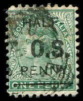 Lot 8056:1891 Surcharge: SG #O51 2½d on 4d deep green.