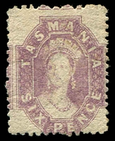 Lot 1944:1871-91 Chalon Wmk Double-Lined Numeral Perf 11½ SG #135 6d dull lilac.