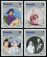 Lot 4278 [2 of 2]:1985 Queen Mother SG #406-10 set & M/Sheet (5)