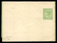 Lot 11464:1885 QV 1d Yellow Green Stieg #E8.