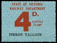 Lot 2090:1941 Ninth Series First Issue 4d red on pale blue issued for Pirron Yallock, scarce.