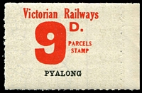 Lot 2381:1953 Tenth Series 9d red on white issued for Pyalong.