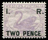 Lot 3356:1893 Optd 'I. R.' 2d on 3d lilac.