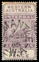 Lot 18229:1893 Wmk CA Over Crown F13 3d dull purple