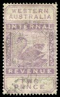 Lot 3404:1893 Long Types Wmk Crown/CA SG #F12 2d dull purple.
