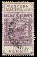 Lot 3048:1897 Wmk W Crown A F19 1d dull purple.