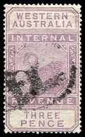 Lot 3352:1897 Wmk W Crown A SG #F20 3d dull purple.
