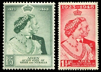 Lot 18753:1949 Royal Siver Wedding SG #14-15 set. (2)