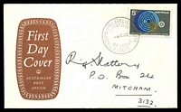 Lot 3996:APO 1969 5c ILO on brown solid Shield FDC by Russell St cds 4JE69.