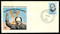 Lot 4170:WCS 1965 5d Churchill tied to illustrated FDC by Russell Street cds 24MY65, unaddressed.