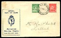 Lot 4248:APO 1937 1d QM & 2d KGVI Die I tied to illustrated FDC by Albert cds 10 MAY37.
