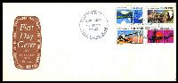 Lot 917:APO 1970 National Development set tied to long FDC by Russell St cds 31AUG 1970, unaddressed.