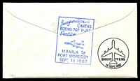 Lot 4826 [2 of 2]:1967 Phiippines - Papua New Guinea AAMC #1609 illustrated Qantas cover with adhesives tied by Manila cds 15SEP 1967.