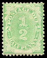 Lot 3935:1902 Converted NSW Plates BW #D1 ½d emerald.
