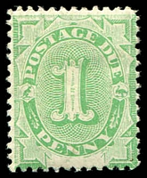 Lot 442:1902 Converted NSW Plates BW #D3 1d emerald.