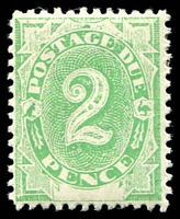 Lot 3370:1902 Converted NSW Plates BW #D7 2d emerald.