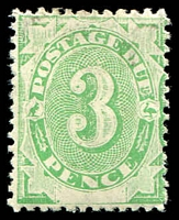 Lot 819:1902 Converted NSW Plates BW #D7 3d emerald.
