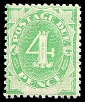 Lot 444:1902 Converted NSW Plates BW #D8 4d emerald.