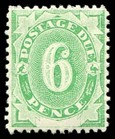 Lot 445:1902 Converted NSW Plates BW #D9 6d emerald.