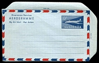 Lot 496:1959-65 10d Jet BW #A13B on light blue stock, unused.